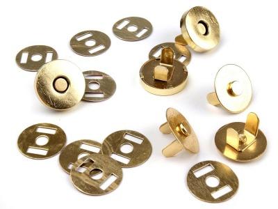 Magnetverschluss dünn 14 mm gold
