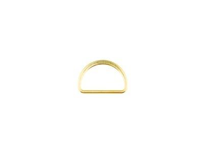 D-ringe 25 mm Fädelloch gold