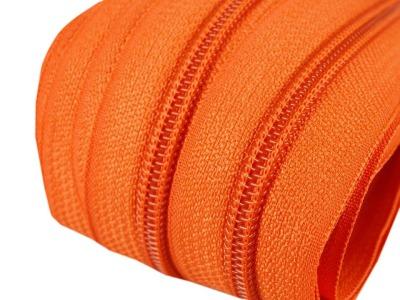 Spirale Reißverschluss mm Meterware orange 2m