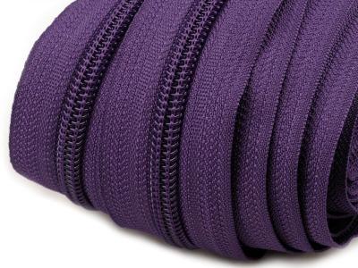 Spirale Reißverschluss mm Meterware lila 2m