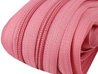 Spirale Reißverschluss mm Meterware rosa 2m