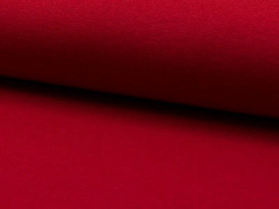05 m Bündchen Feinripp rot