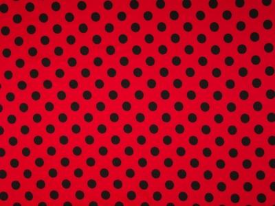 05 m Jersey rot-schwarz große Punkte