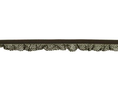 1 m Rüschengummi dunkelbraun 14mm