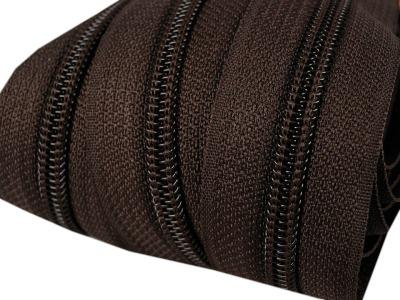 Spirale Reißverschluss mm Meterware dunkelbraun 2m