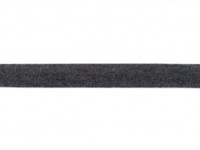 05 m Schrägband Jersey dunkelgrau meliert