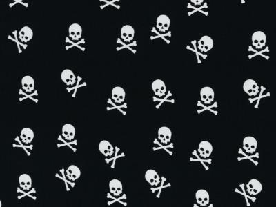 05 m kleine Totenköpfe auf schwarzen