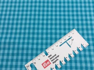 05 m BW Webware Karo türkis