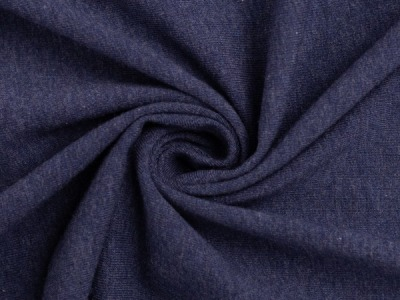Bündchen Feinripp dunkelblau meliert breit cm