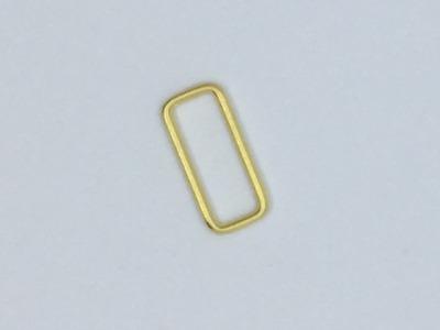 Vierkant 25 mm Fädelloch gold
