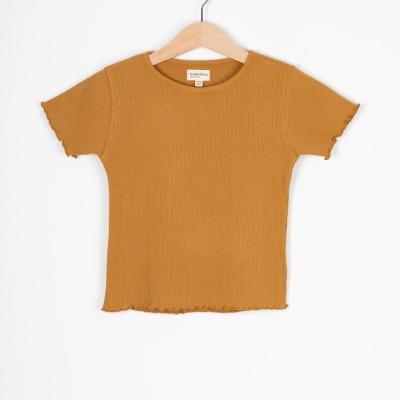Calella Tee Rib jersey T-Shirt mustard