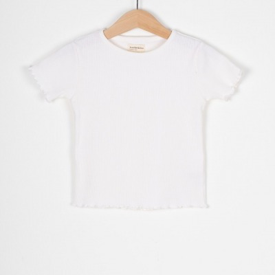 Calella Tee Rib jersey T-Shirt offwhite