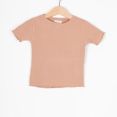 Calella Tee Rib jersey T-Shirt clay