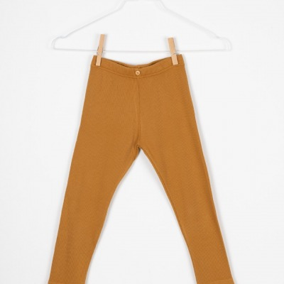 Toledo Leggings Rib jersey Leggings mustard