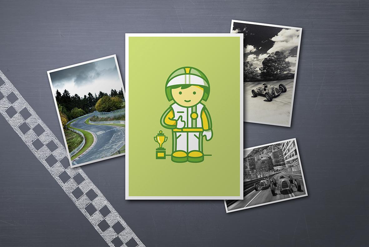 Glückwunschkarte Rennfahrer - Spitze Gut gemacht - 3