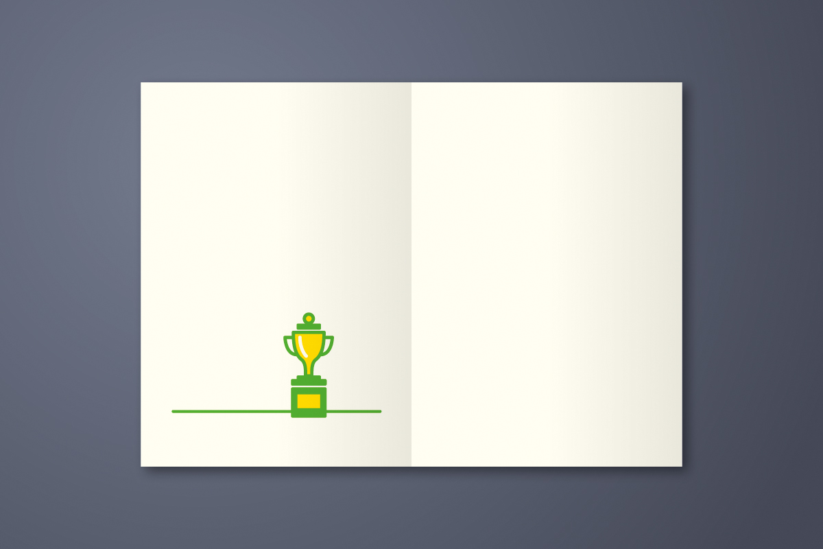Glueckwunschkarte Rennfahrer - Spitze Gut gemacht