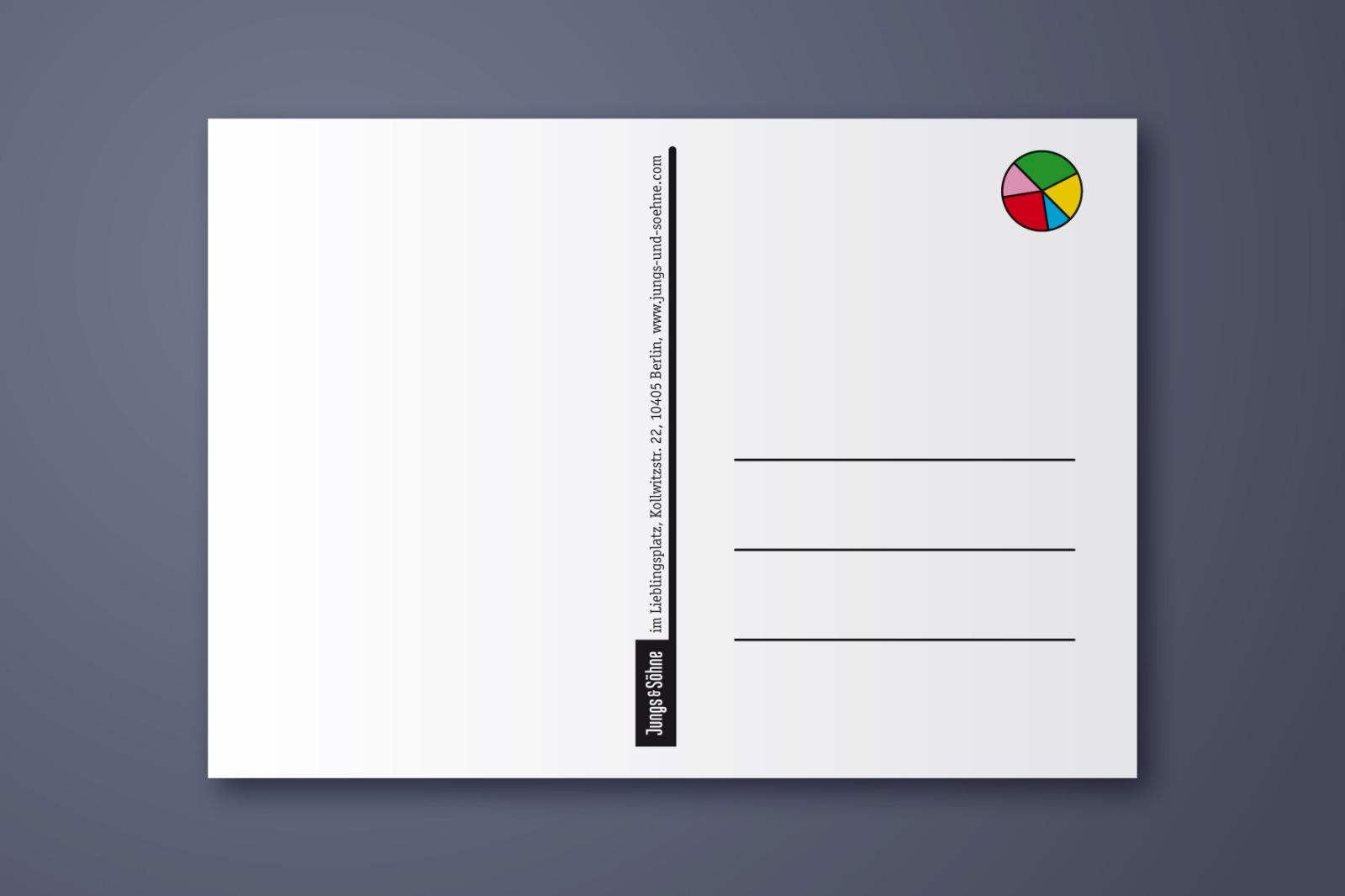 Postkarte Geburtstagstorte