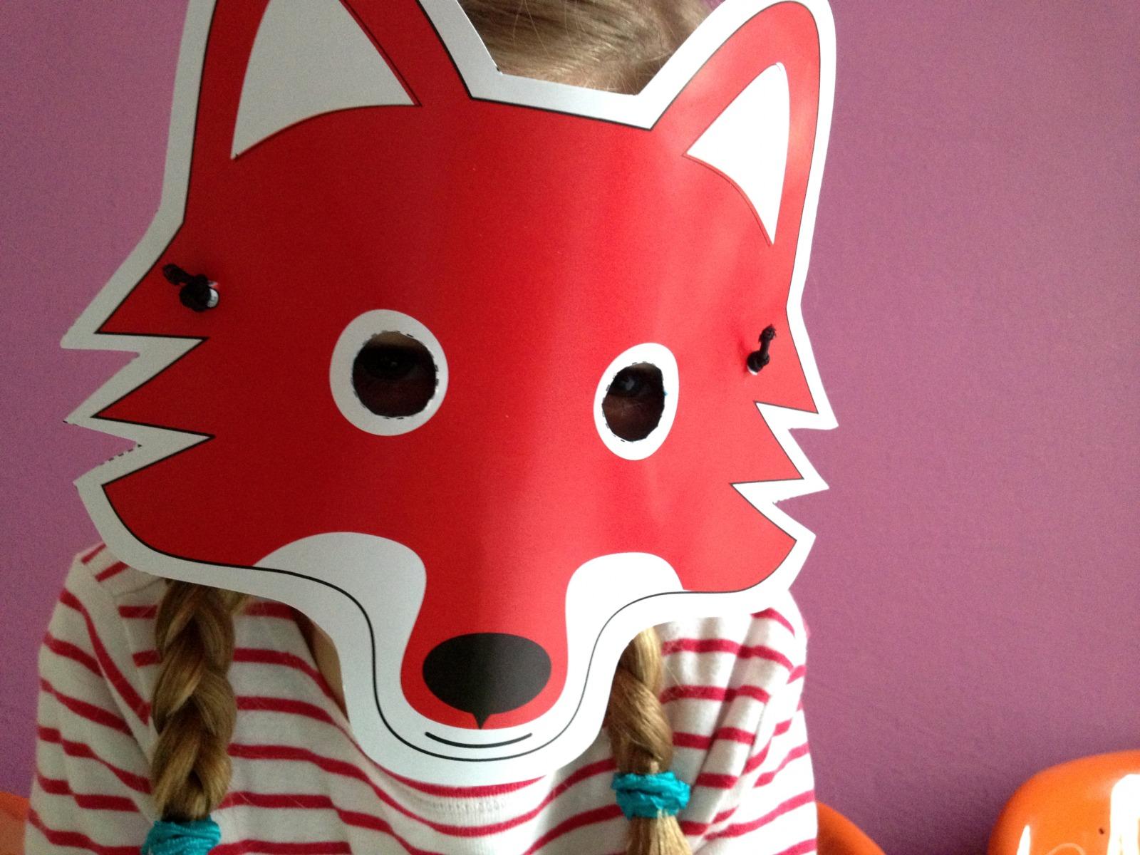 Fuchs-Maske / Bastelset - 1