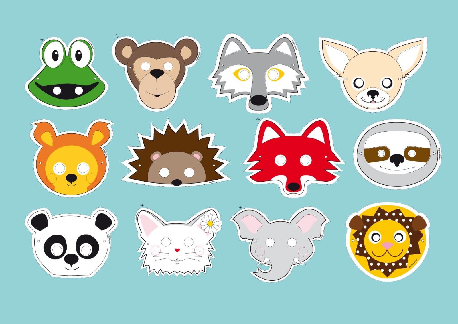 Panda-Maske / Bastelset - 2