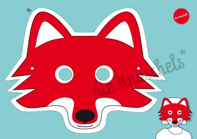 Fuchs-Maske / Bastelset - 3