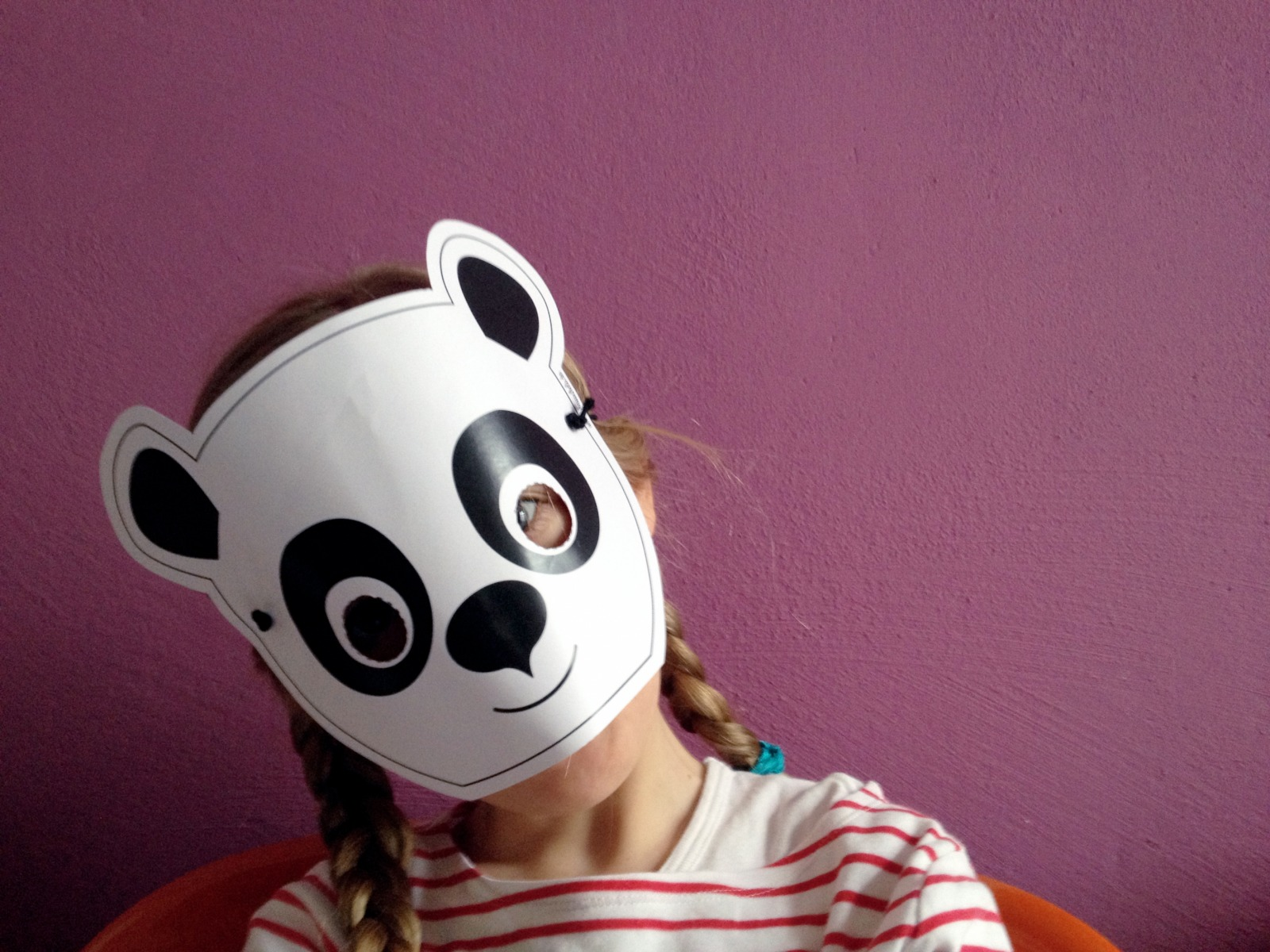 Panda-Maske / Bastelset - 1