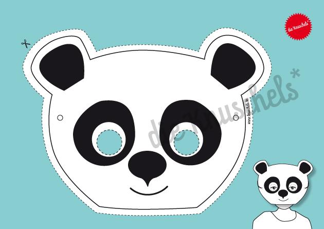 Panda-Maske / Bastelset - 3