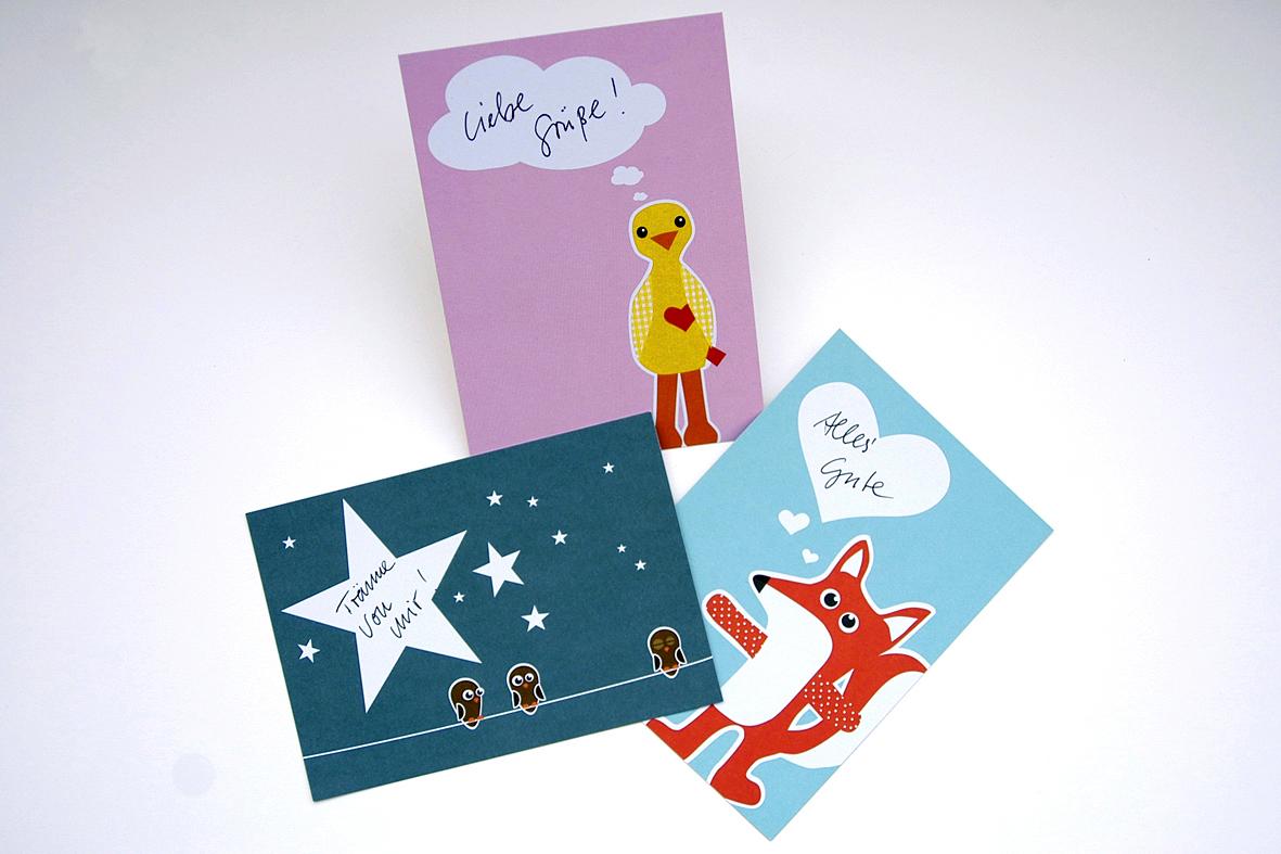 Postkartenset / 3 Postkarten