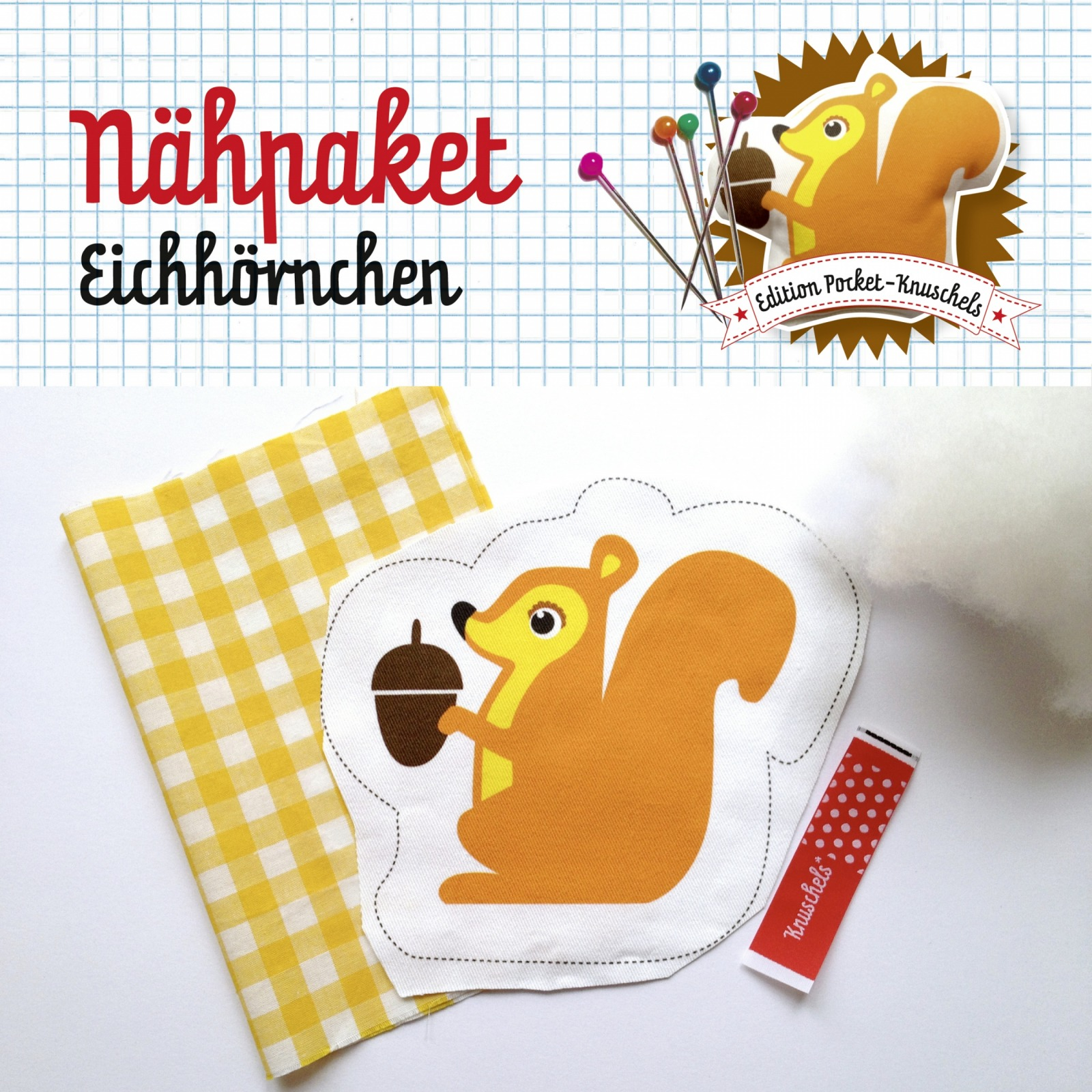 Nähpaket Eichhörnchen - 2