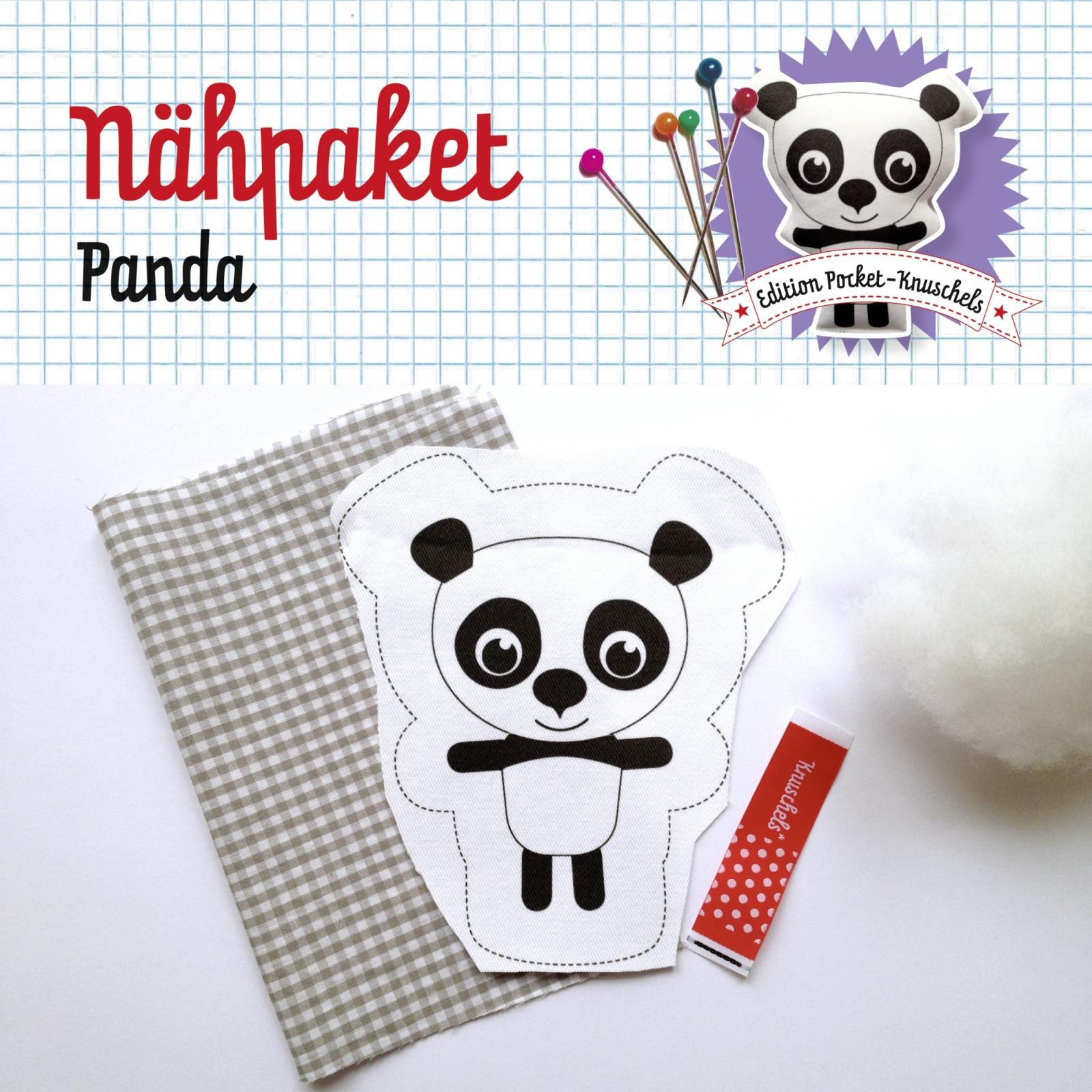 Naehpaket Pocketknuschel Panda