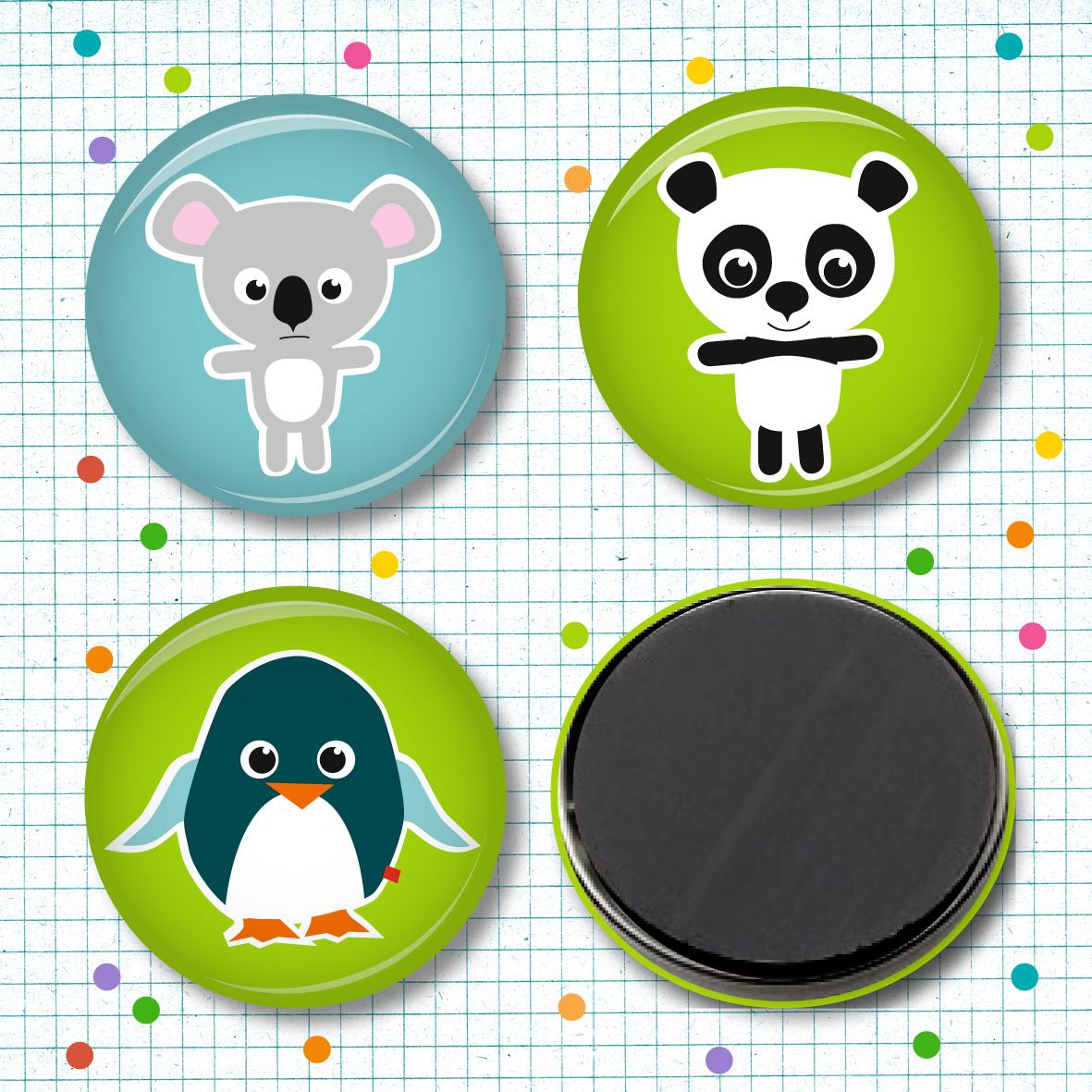 Magnetset Koala Panda & Pingu - - 1