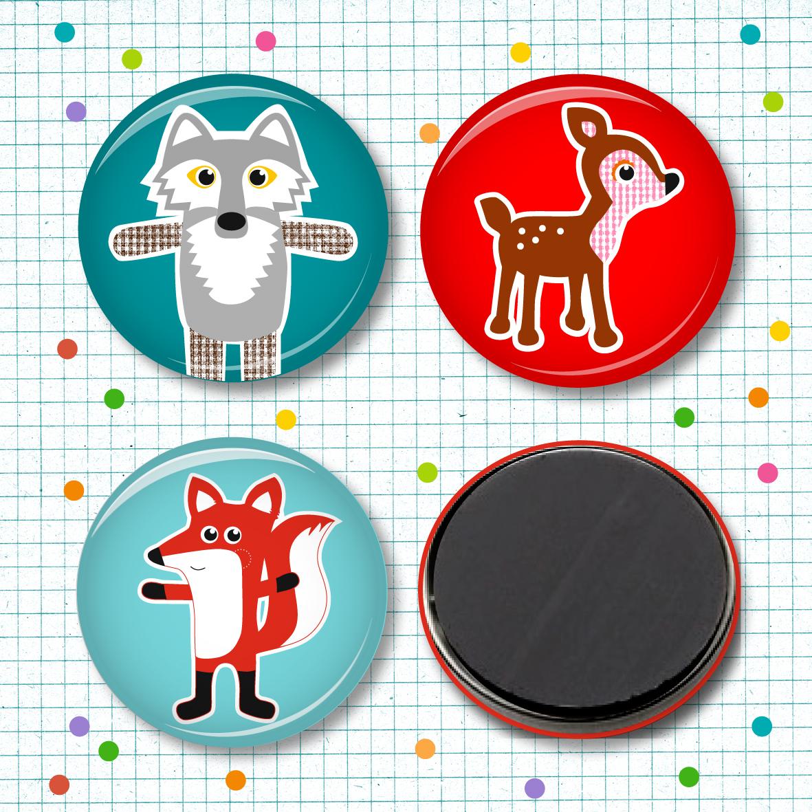 Magnetset Fuchs, Wolf & Reh - 3 Stück