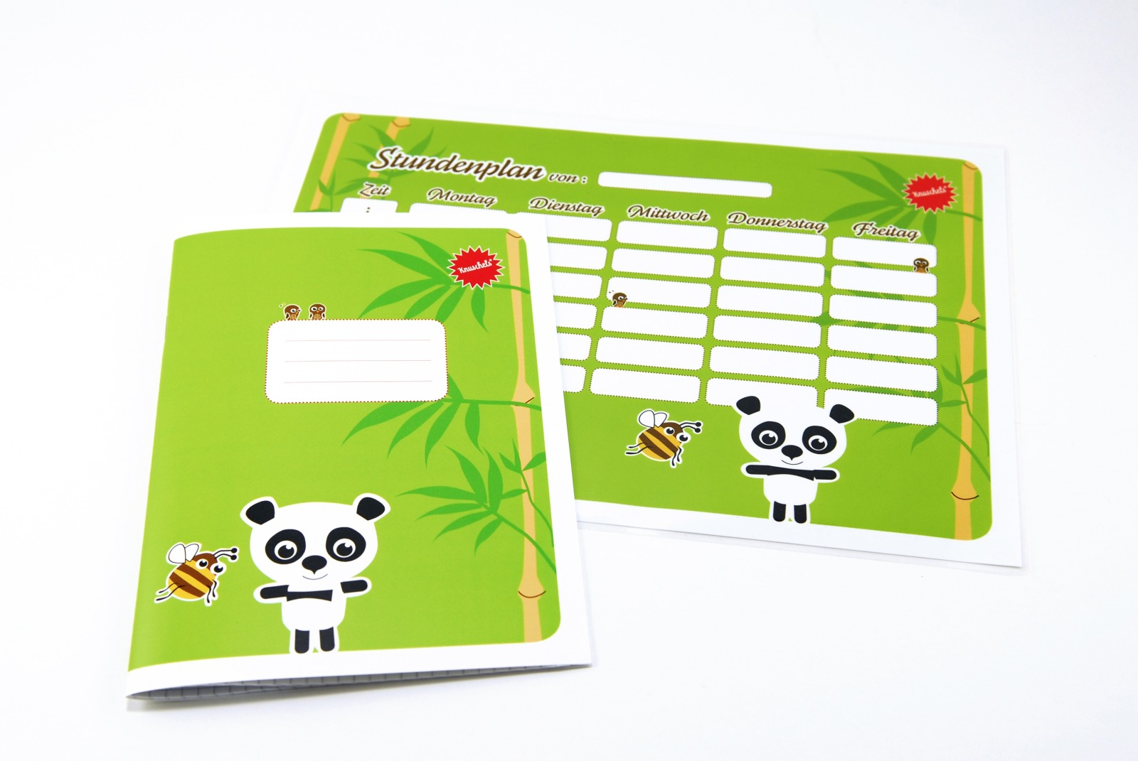 SET / Stundenplan Schulheft Panda