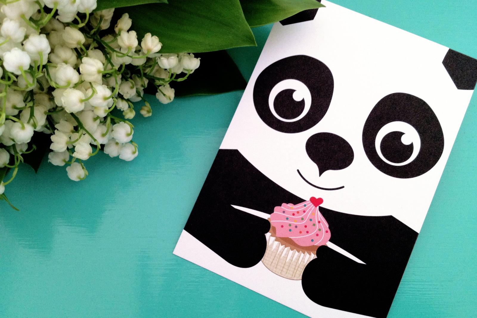 Postkartenset Panda / 5 Postkarten 2