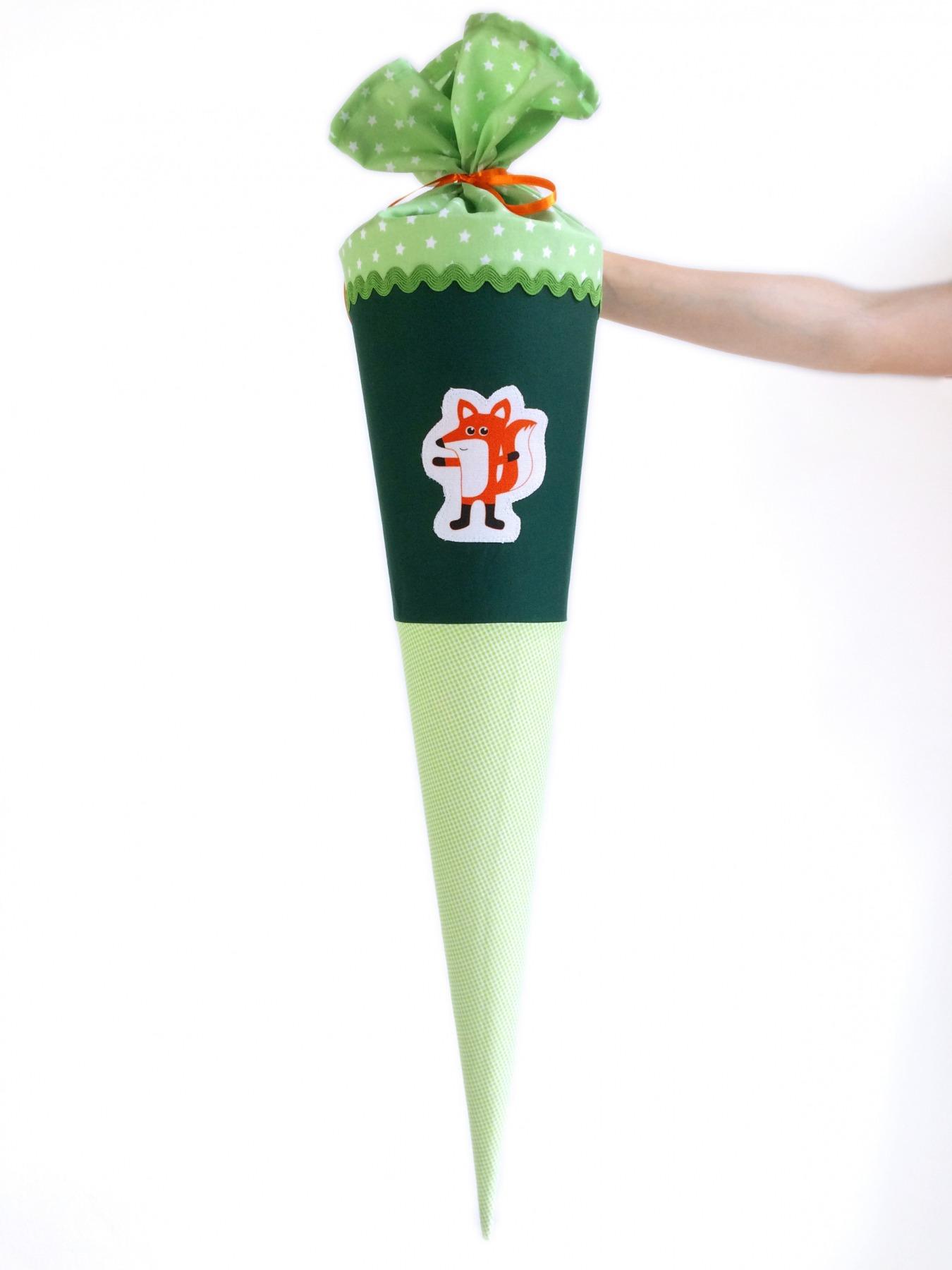 Schultüte Fuchs grün, 70cm - 1