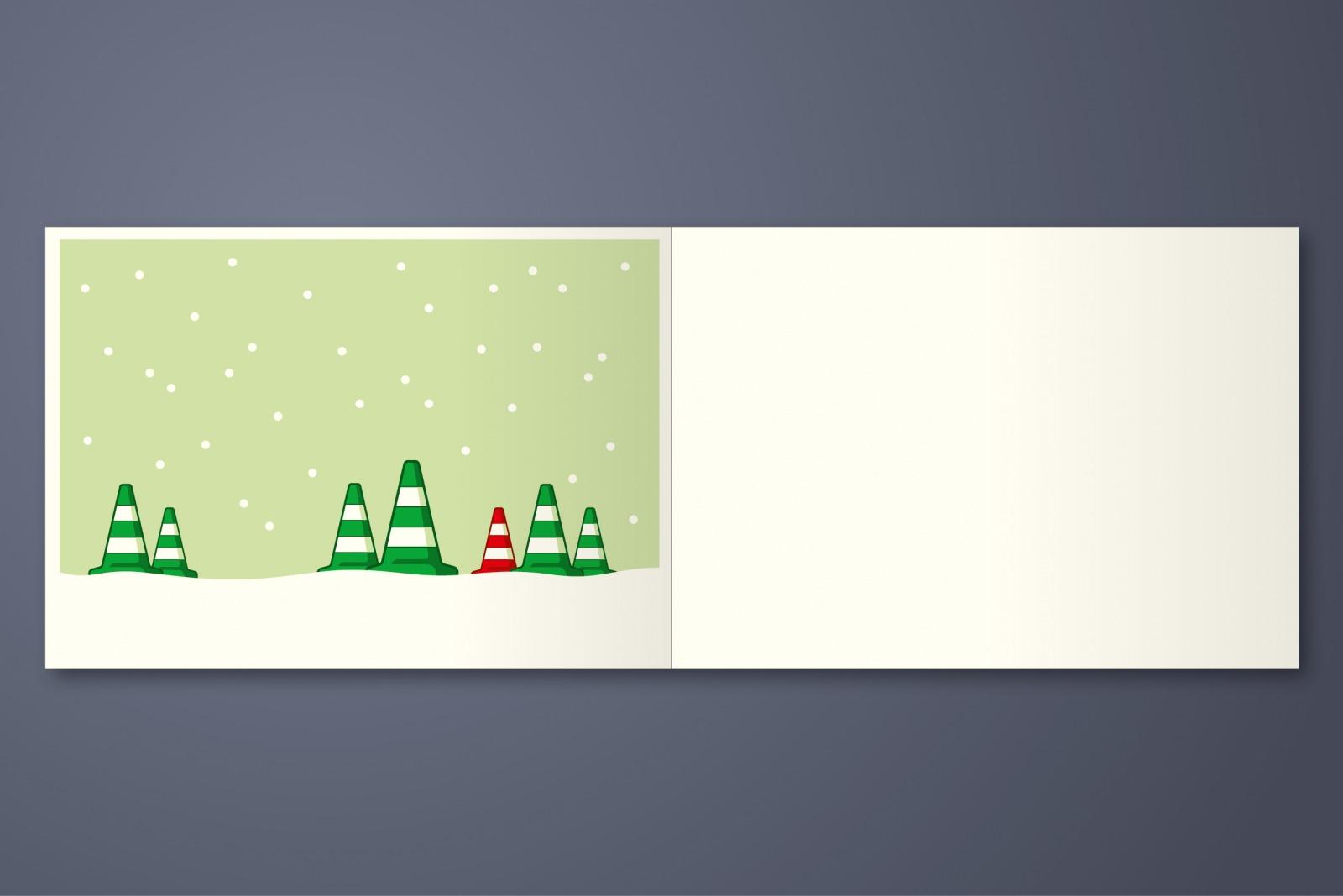 5er Set Weihnachstkarten ä Tännschen please - 5