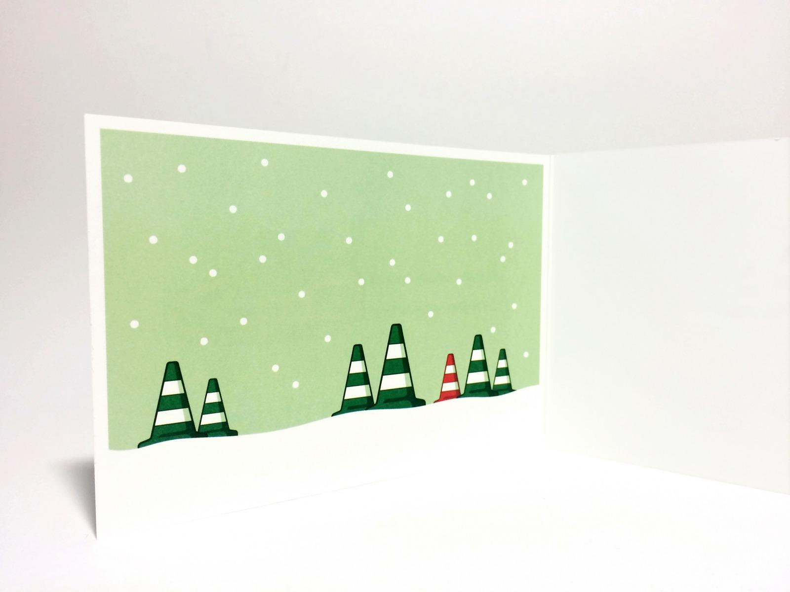 5er Set Weihnachstkarten ä Tännschen please - 3