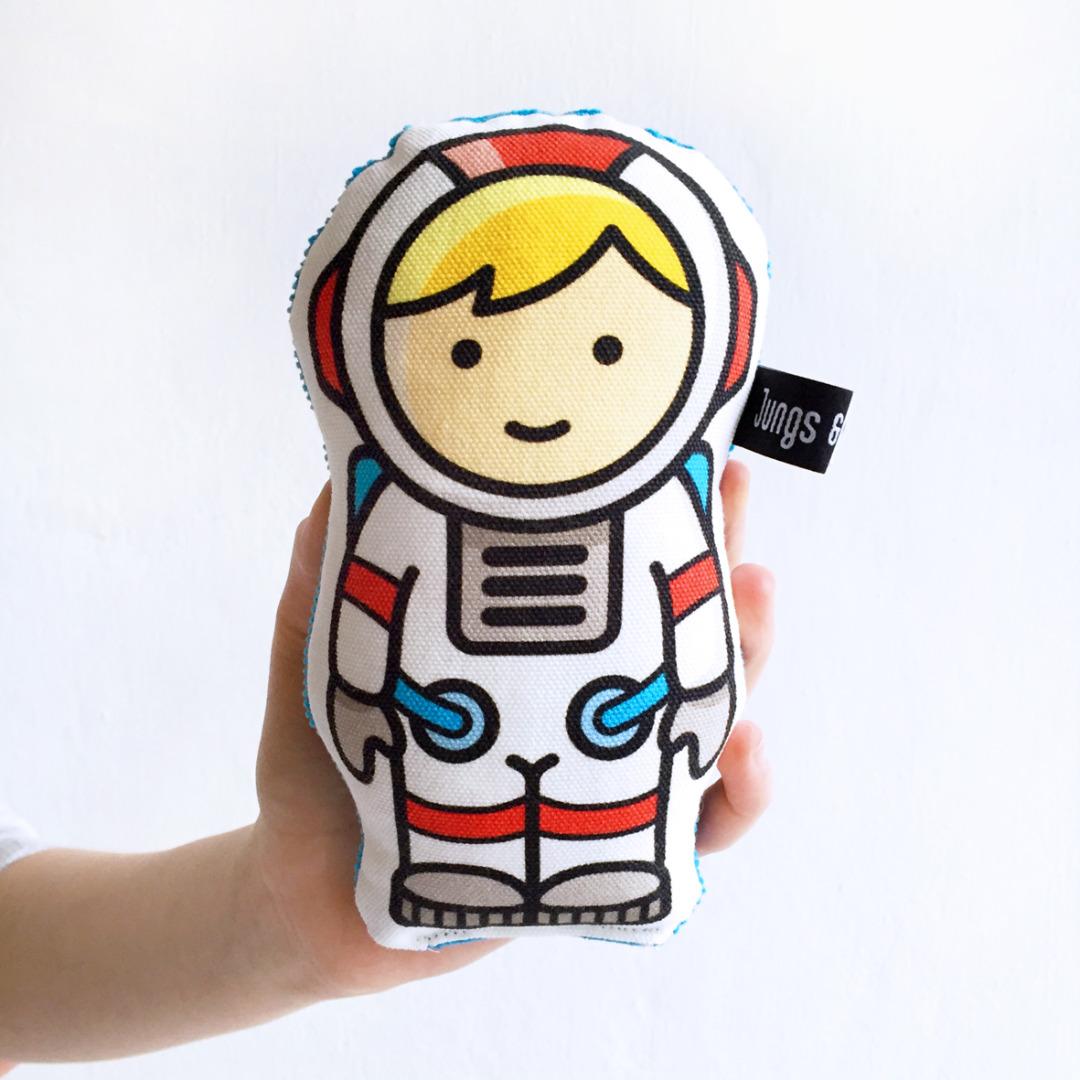 Geschenk-Set Astronaut , 1 Rassel, 1 Klappkarte, 1 Geschenkpapier - 4