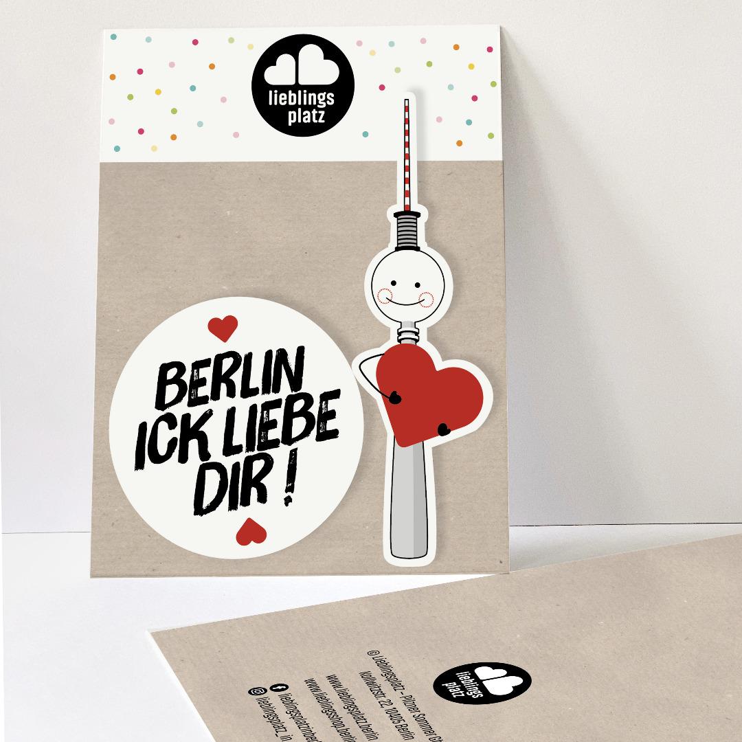 Aufkleberset Berlin ick liebe dir Berlin Aufkleber berliner Mundart Sticker Berliner Fernsehturm - 1