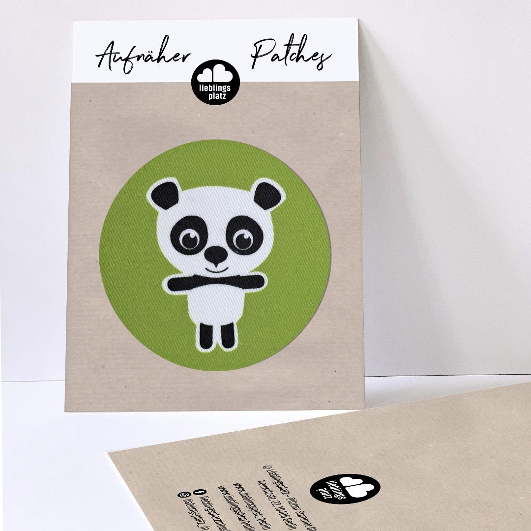 Aufnäher Panda / rund - 1