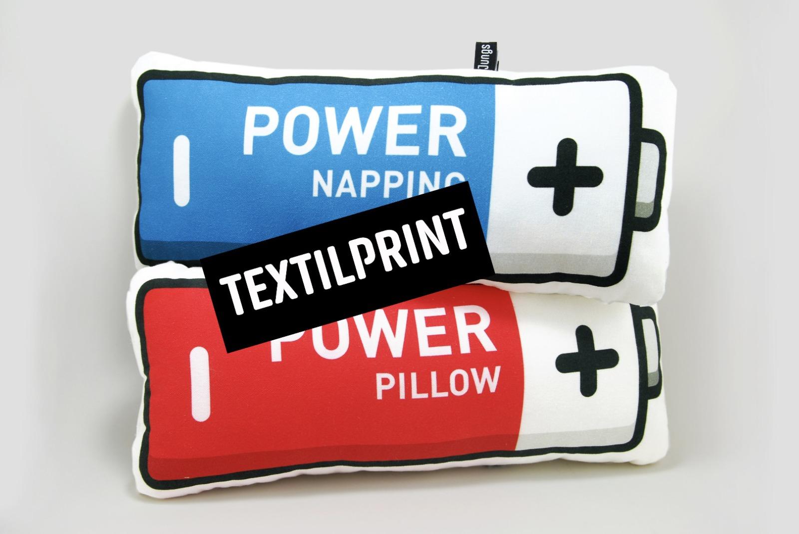 Textilprint zum selber nähen Power Pillow-Batterie