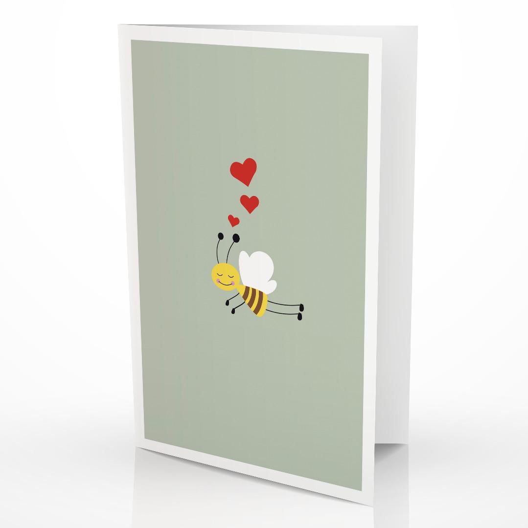 Grußkarte Biene Glückwunschkarte mit Biene - 2