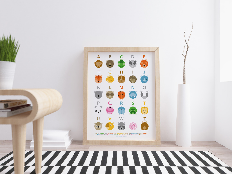 Tier ABC Poster Plakat Animals Kreise - 2