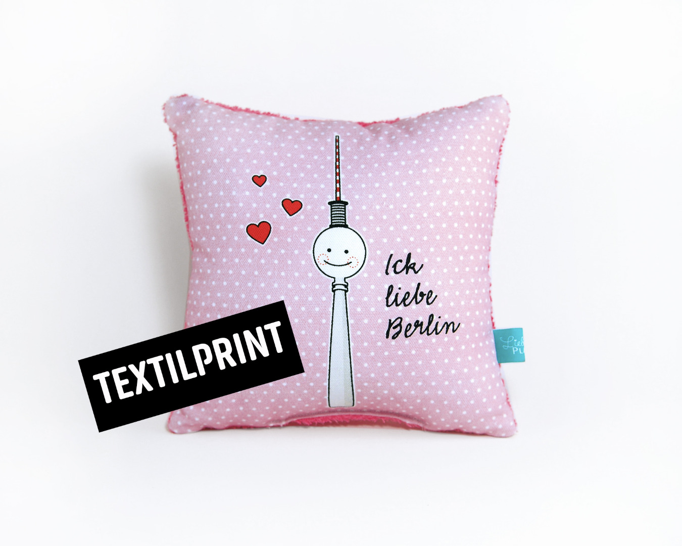 Textilprint zum selber nähen kleines Kissen