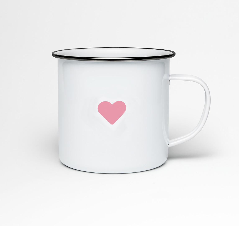 Emailletasse Lieb mir, oder ich zerhack dir die Kommode Emaillebecher Tasse Berliner Mundart - 2