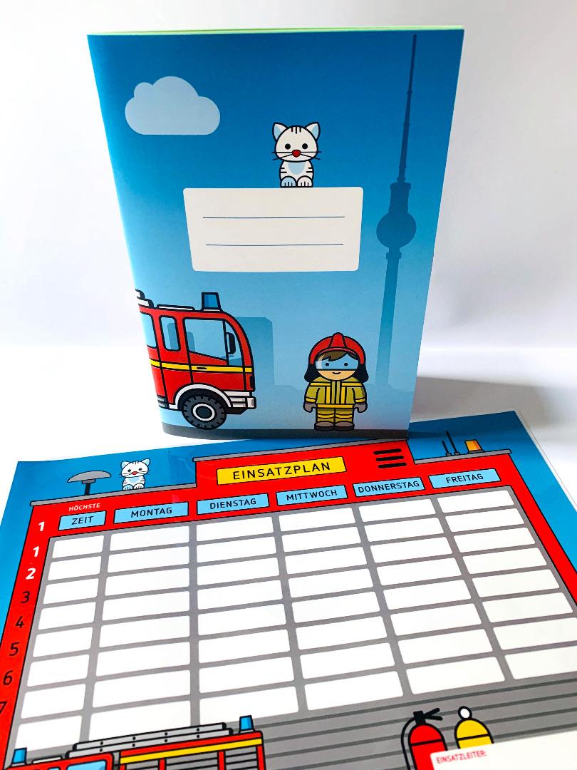 SET / Stundenplan & Schulheft Feuerwehr - 1