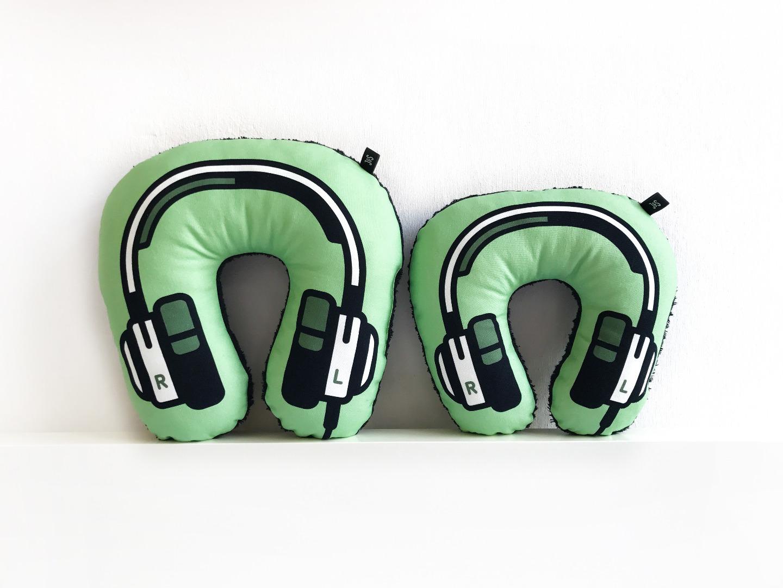 Kopfhörer Nackenkissen grün KIDS 2