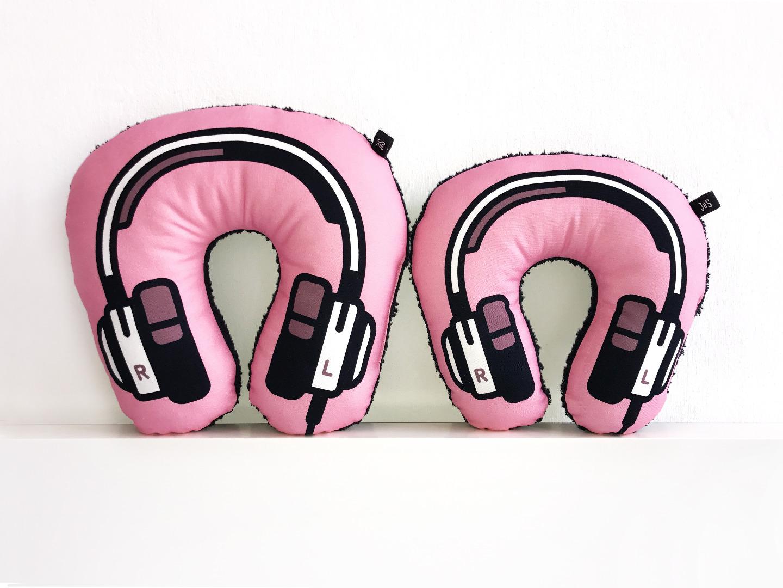 Kopfhörer Nackenkissen rosa KIDS 2
