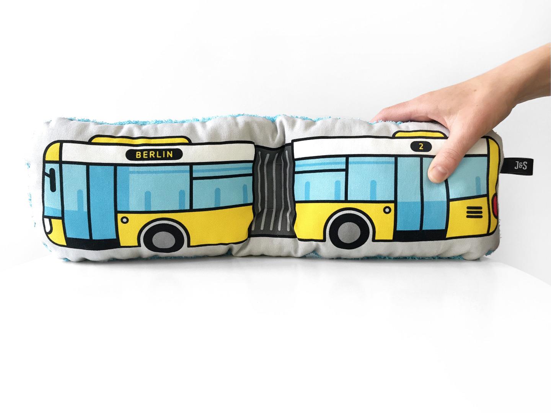 Bus Kissen Schlenkerbus groß - 1