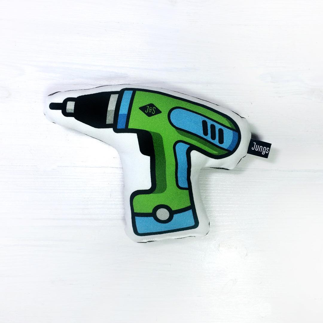 Akkuschrauber grün-blau Rassel