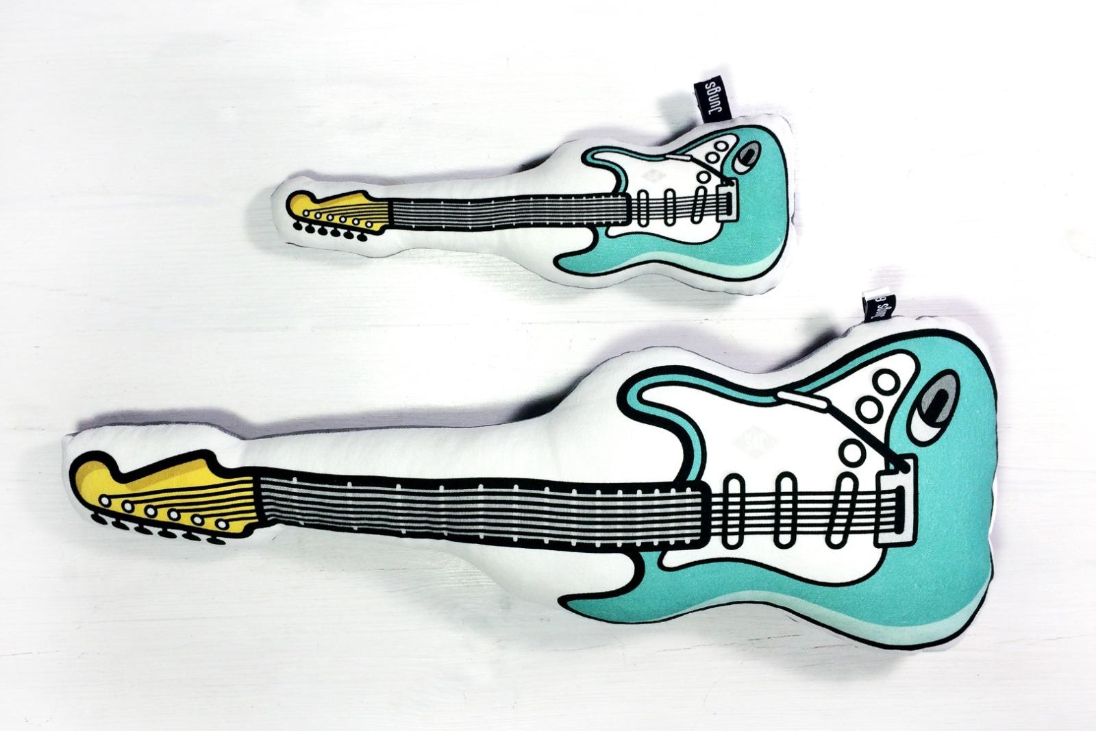 E-Gitarre Kissen in tuerkis